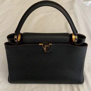 Louis Vuitton Taurillon MM Capucines Handbag!